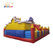 Commercial use giant inflatable bouncy castle , inflatable fun city