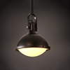 3 heads indoor industrial style semispherical matte glass pendant lamp e27 led/filament bulb