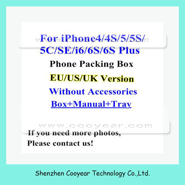 US version mobile phone box for iphone 6 6s box without accessories 16GB