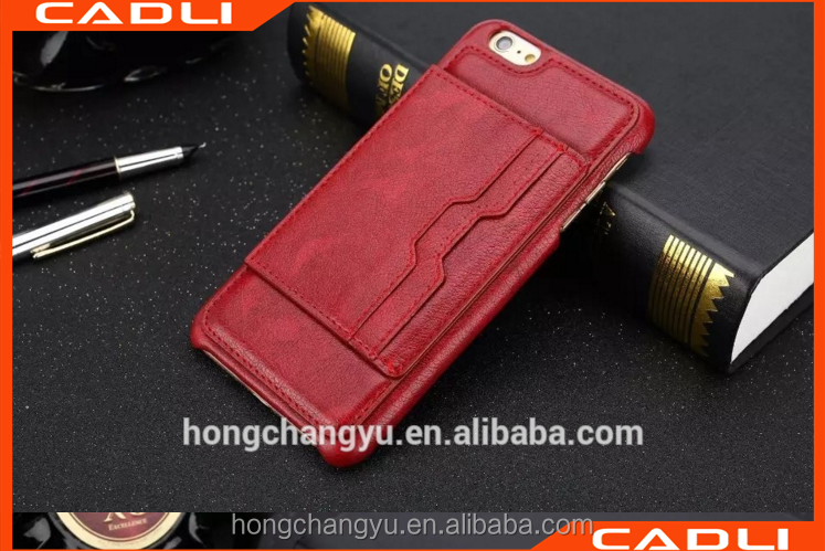 Hot selling products 5.5 inch wallet phone case leather mobile phone case for iphone 6 6plus