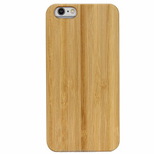 Real bamboo wood carbonized PC material mobile phone case for iPhone 6/6S