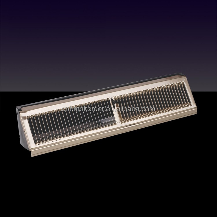 baseboard diffuser with damper metal color air vent