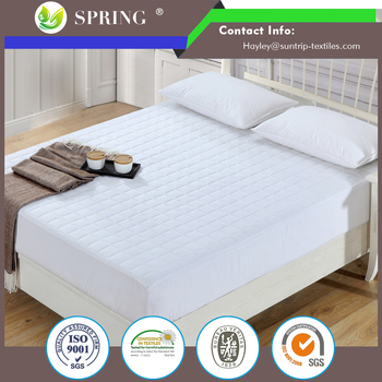 with Deep Pocket Fitted Skirt, King Home Quilted Hypoallergenic Plush Waterproof Mattress Pad Topper