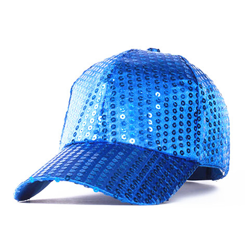 2015 baseball cap fashion handmade sequin hats for children