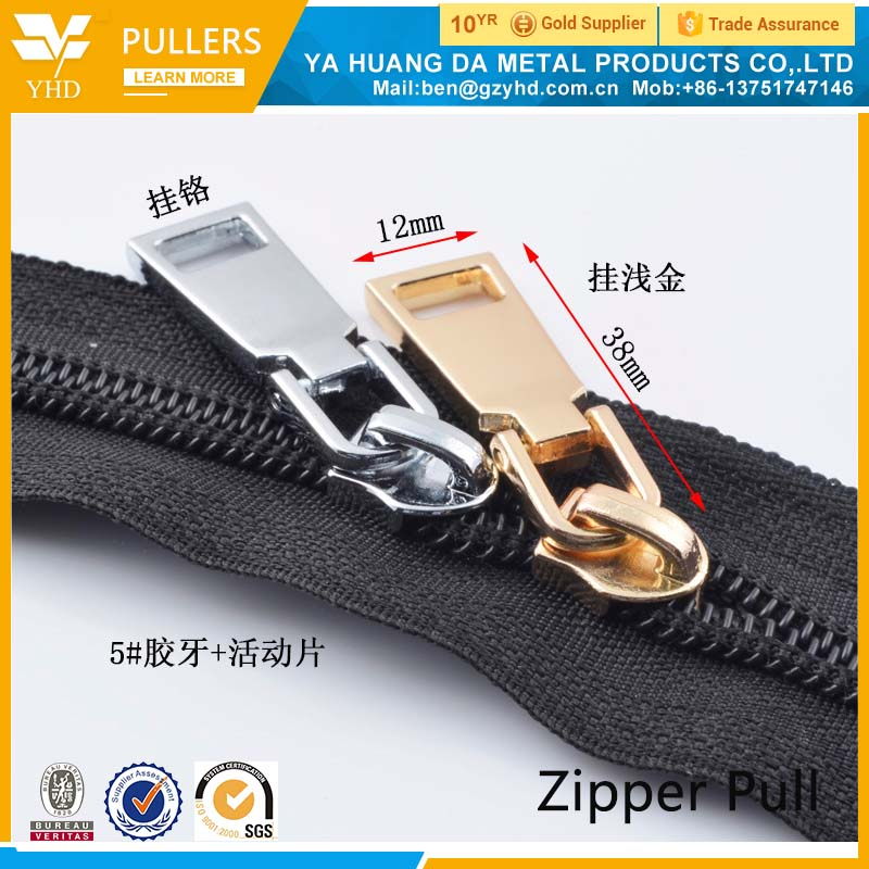 2017 new product Perfect Custom zipper pulls in 2017 new product Gun Metal color