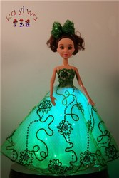 Fashionable Wedding Decoration Dolls / Green Light Up Toys for Kids