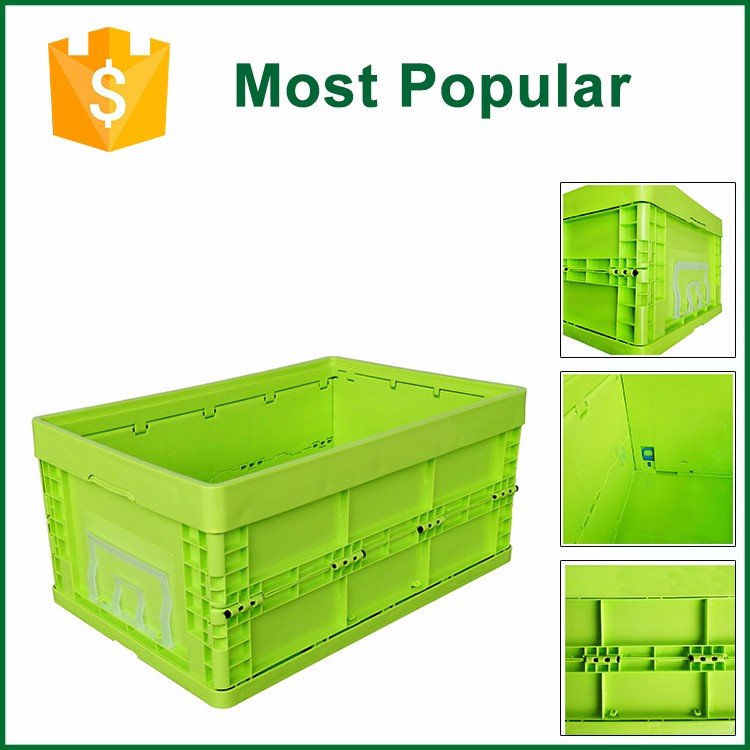 Durable New Design Foldable Plastic Moving Crates And Boxes