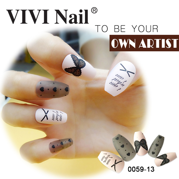 NEWAIR-Acrylic nail art 24pcs acrylic finger nails