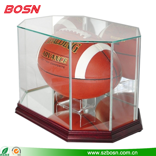Transparent acrylic boxing glove display storage box