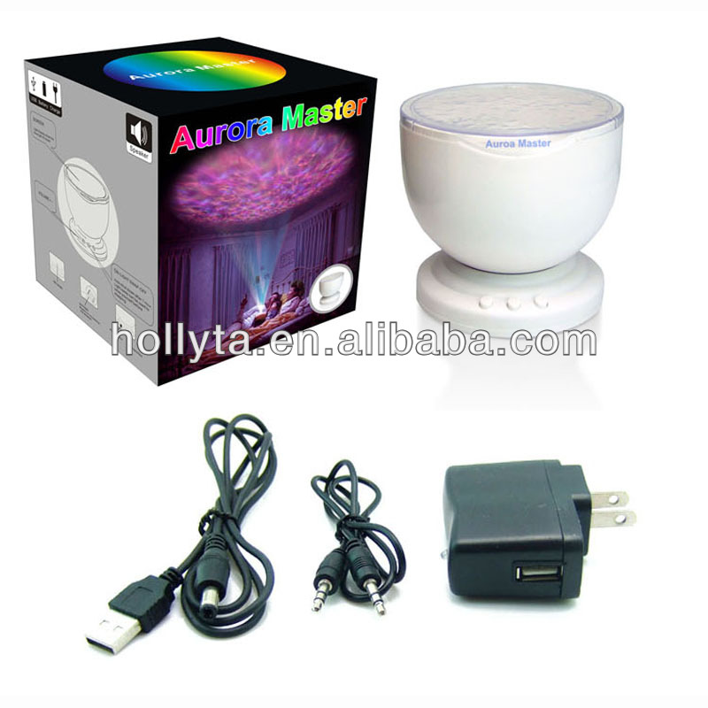 Colorful Aurora Master Projector Lamp with Speaker