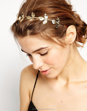 Snap Gold Leaf Metal <strong>Hair</strong> Band New Design Gold Plated <strong>Hair</strong> <strong>Accessories</strong>