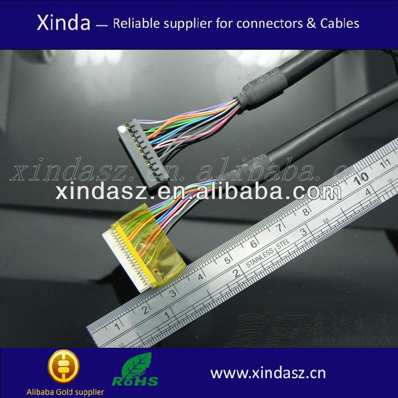 Lcd/lvds cables for tv /flat cable lcd laptop