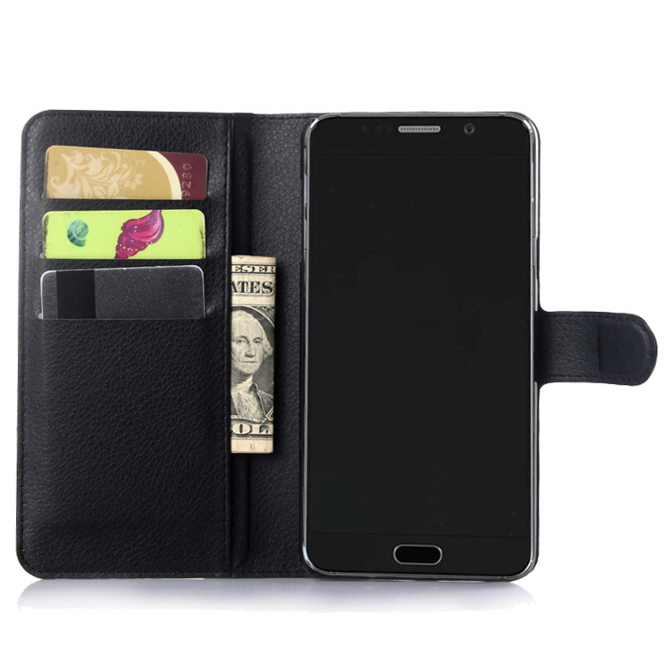 New style hot-sale leather pouch case for samsung note 5