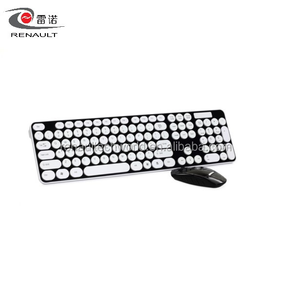 Colorful Wireless Keyboard and Mouse Combo with Custom Logo and Factory Price