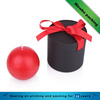 luxury chocolate packaging paper tube box with red bowknot