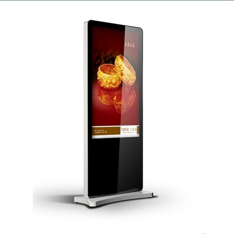Vertical commercial advertising monitor digital touch screen display kiosk with WIFI