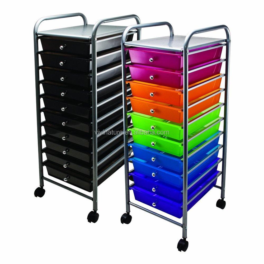 Plastic Storage Trolley To Storage Drawers On Wheels Buy