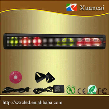 Hot sale P7.62-7x80 RG double color single line led sign with scrolling/moving word function