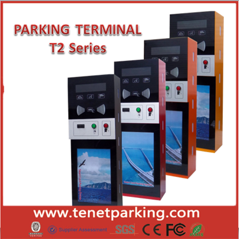 TENET Parking Lot Access Control Management System Entrance Exit Terminal Ticket Vending Machine Card Dispenser with card reader