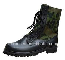 Tactical Military Canvas boots with Leather Upper
