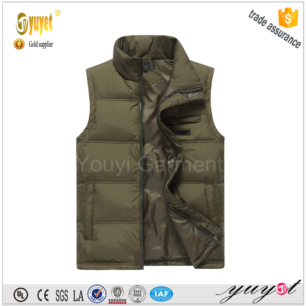 new products 2016 puffy men thicken warm man down vest