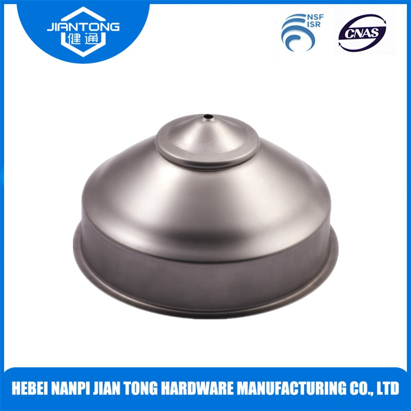 stainless steel end cap deep drawn stamping precision components