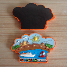 custom 3d soft pvc cartaqena colombia landscape fridge magnets