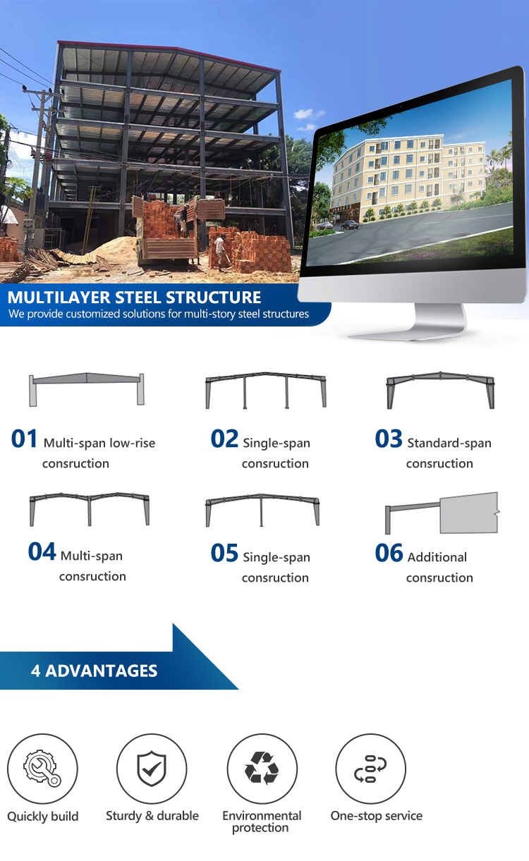 Structural steel engineering beef poultry warehouse manufacturer best arch steel structure building