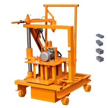 QTF40-3C Factory direct sell portable small moving concrete hollow brick block making machine price
