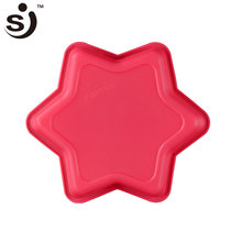 Cheap Professional Star Shape Homemade Non-Stick Novel Flexible Silicon Cake Pan Silicone Cake Mould For Cake