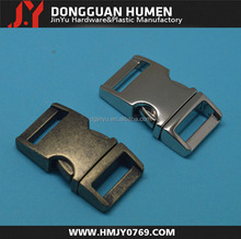 Dongguan jinyu 5/8(15mm) Curved metal side release buckle, Metal quick release clip , high quality metal buckle wholesale