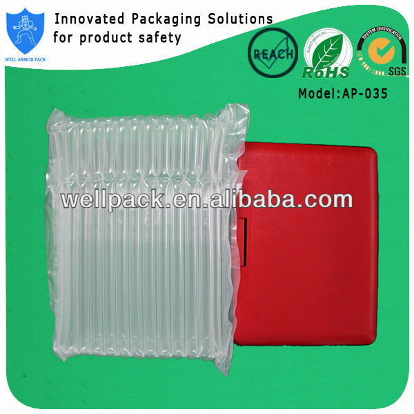 Transparentair packaging air bubble bags for packing tablet computer