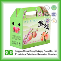 Wholesale Color Printing Three Layer A-flute Corrugated Paper Gift Box Fruit Carton Box