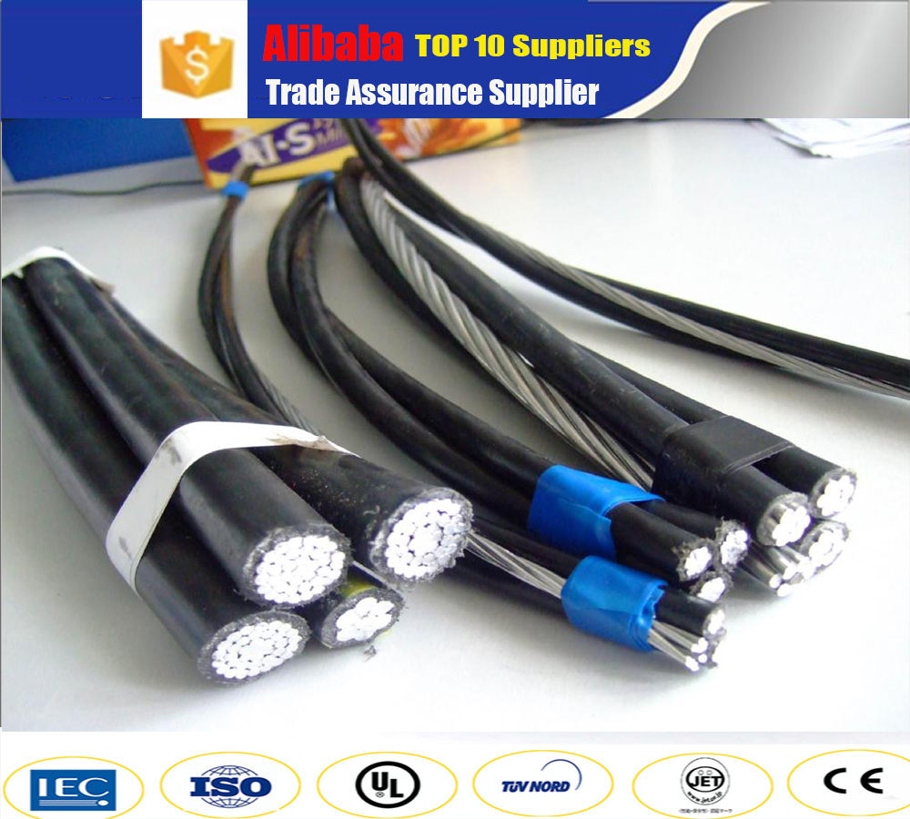 Factory directly sale 10KV steel core aluminum XLPE insulated aerial bundle cable