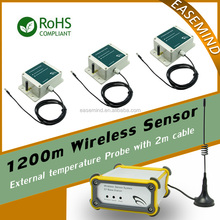 1200m Wireless Room Temperature Sensor for Server room temperature humidity monitoring