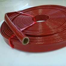 BSTFLEX silicone coated fiberglass heat resistant sleeve for hydraulic hose pipe line wire heat protective