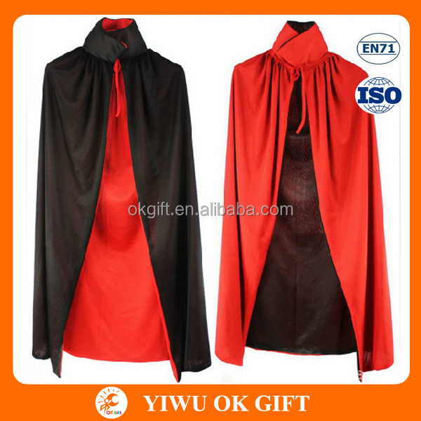 Double Face Halloween Devil Capes for Adult OEM Order Acceptable