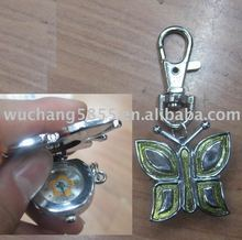Clock Heart Key Chain/key chain/metal key chain