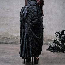 latest brocade pattern pleated skirts gothic long skirts