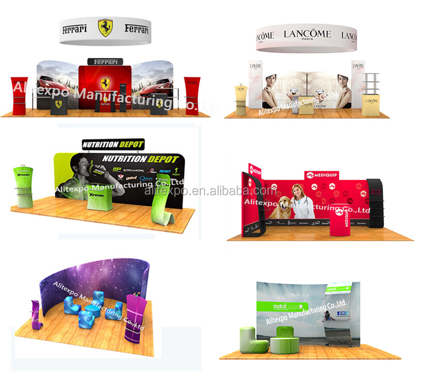 Most durable portable popup trade show booth displays