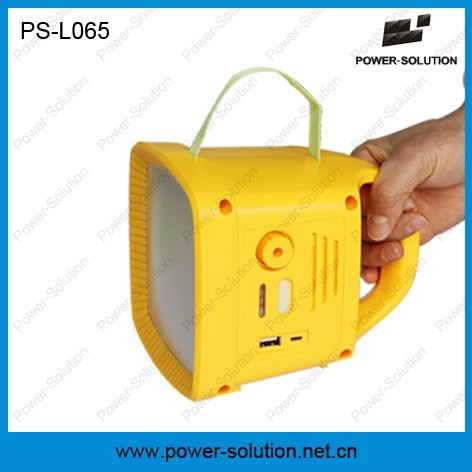 Multifunctional lithium battery solar lantern with FM radio for Africa rural families