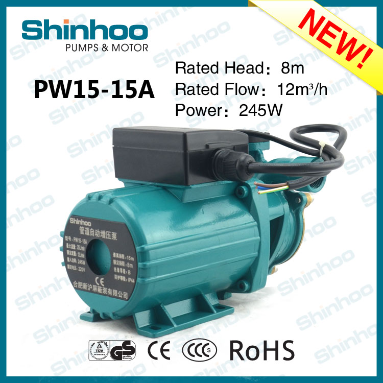 15-15A PW Shinhoo New Product Home Using Silent Heating Water Automatic Piping Pump