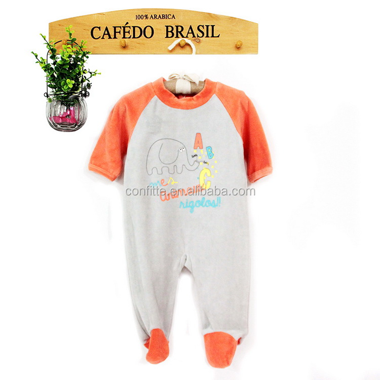 two color matching cotton or knitted printed baby romper OEM service