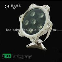 water effect disco lights 2012 DC24V/110-220V stainless steel led waterproof colorfull 6X1W OD150mm 600Im