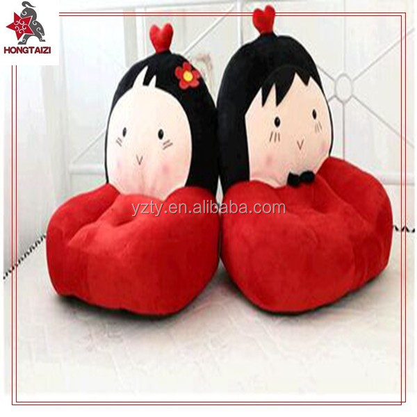 Hot sale cute stuffed doll shaped sofa