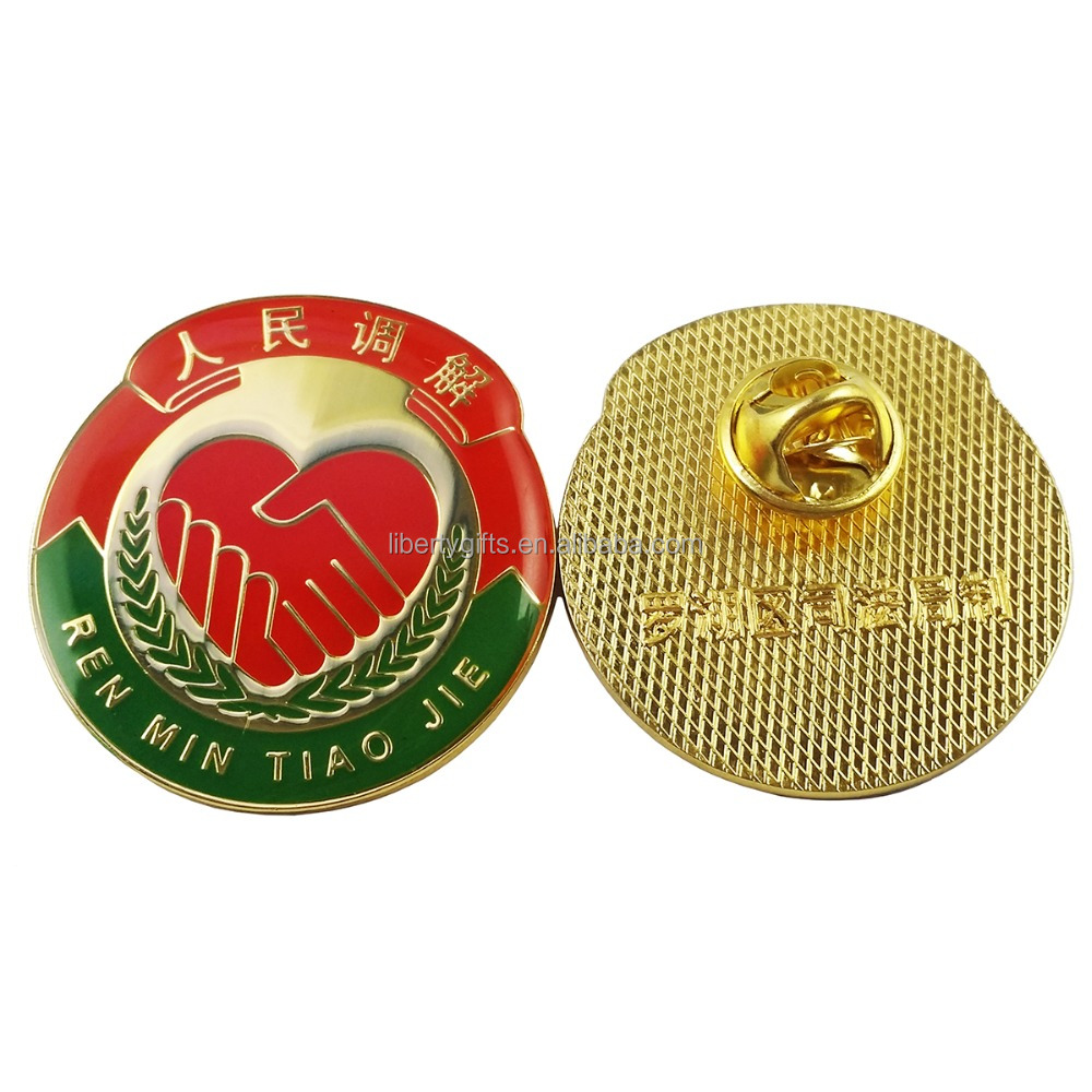 high quality metal epoxy volunteer lapel pins