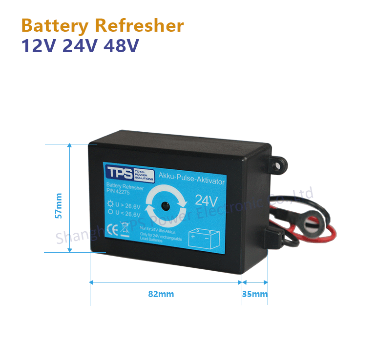 TPS 48v battery refresher for rechargeable lead-acid battery