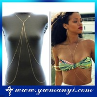 Jewelry wholesale cheap china fashion body chain sexy body chains cross jewelry B0021