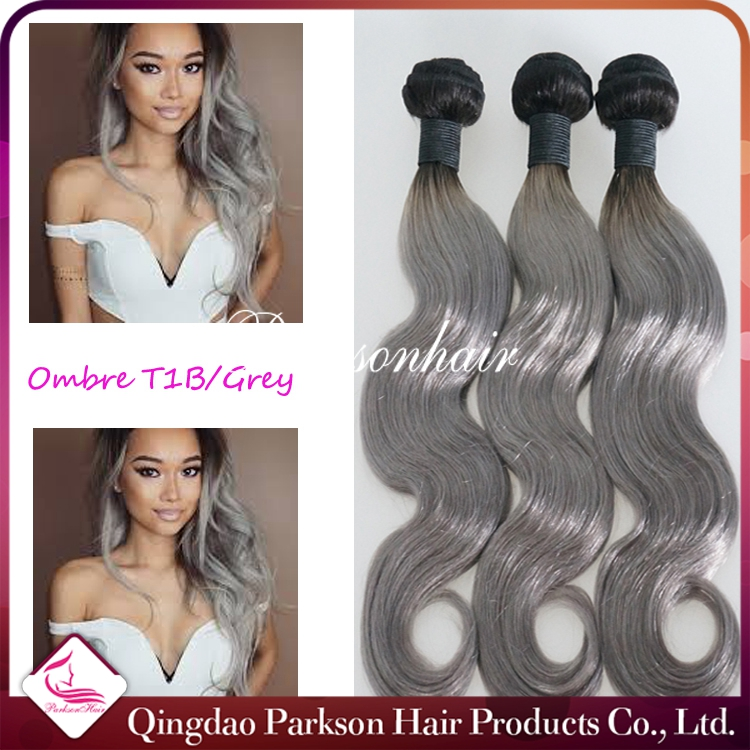 Top quality long lasting 100% human wholesale raw virgin braziln hair Ombre hair grade 7A 100% Virgin Brazilian Human Hair weave