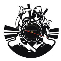 Handmade Acrylic Time Clock Marvel Comic Deadpool Wall Clock Home Decor For Kid
